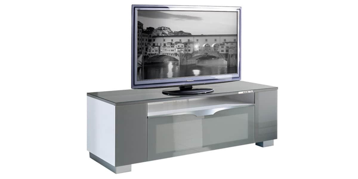Munari fi126a gris meubles tv munari sur easylounge - Meuble tv infrarouge ...