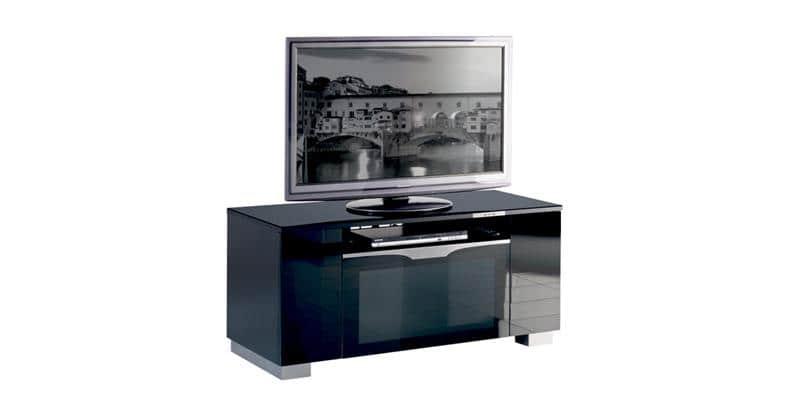 Munari fi126 noir meubles tv munari sur easylounge - Meuble tv infrarouge ...