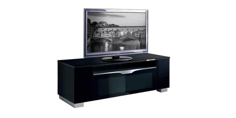 Munari fi151 noir meubles tv munari sur easylounge for Meuble dvd ferme