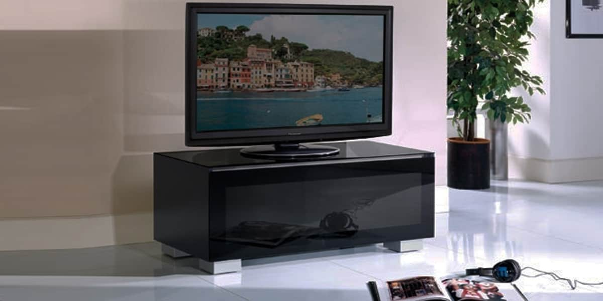 munari ge110 noir meubles tv munari sur easylounge. Black Bedroom Furniture Sets. Home Design Ideas