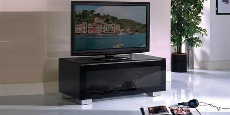 Munari ge110 noir meubles tv munari sur easylounge for Meuble tv 100