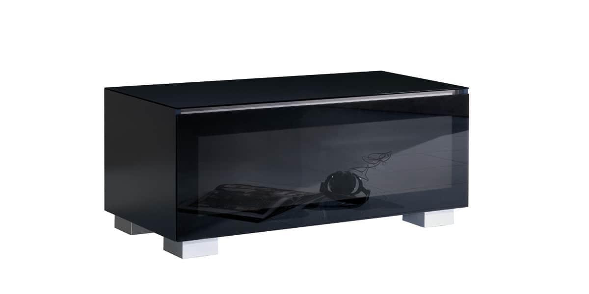 Munari ge110 noir meubles tv munari sur easylounge - Meuble tv 110 cm ...