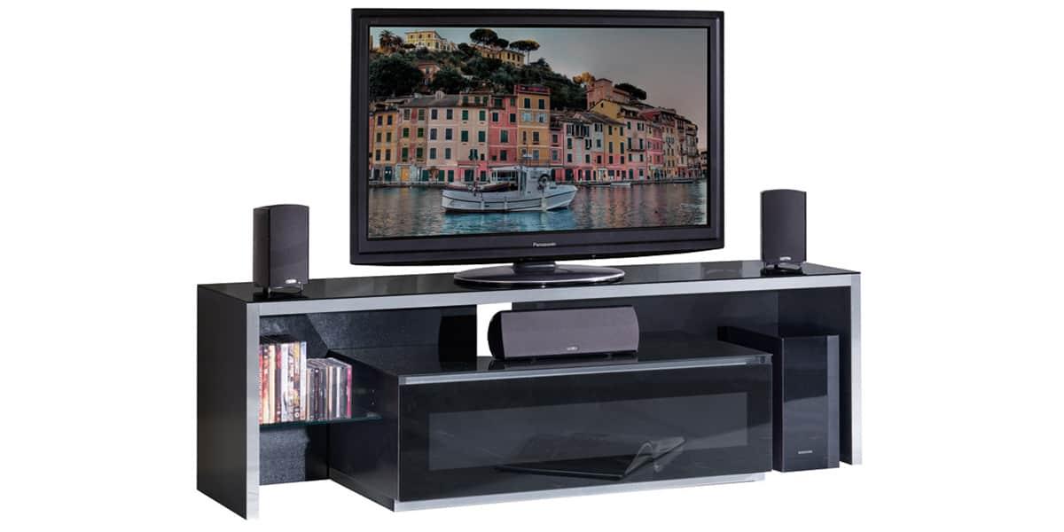 Munari ge165 noir meubles tv munari sur easylounge - Meuble tv infrarouge ...
