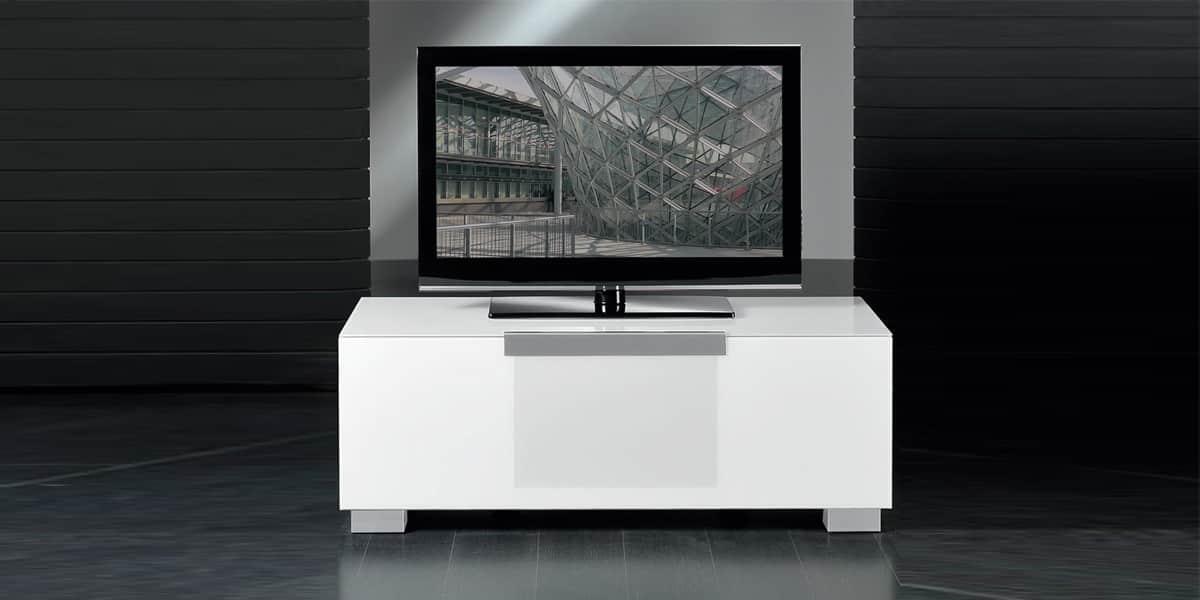Munari mi311 blanc meubles tv munari sur easylounge - Meuble tv infrarouge ...