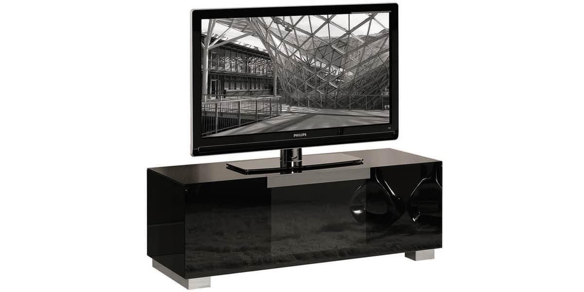 Munari mi311 noir meubles tv munari sur easylounge - Meuble tv infrarouge ...