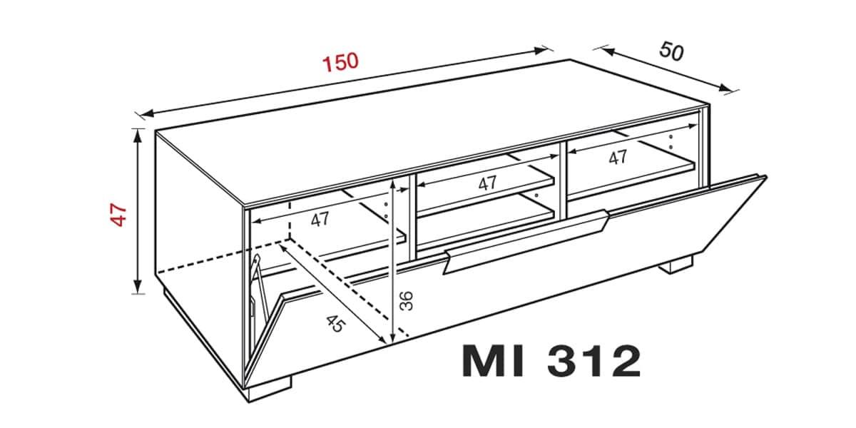 Meuble Tv Blanc Munari : Munari Mi312 Blancmeubles Tv Munari Sur Easylounge