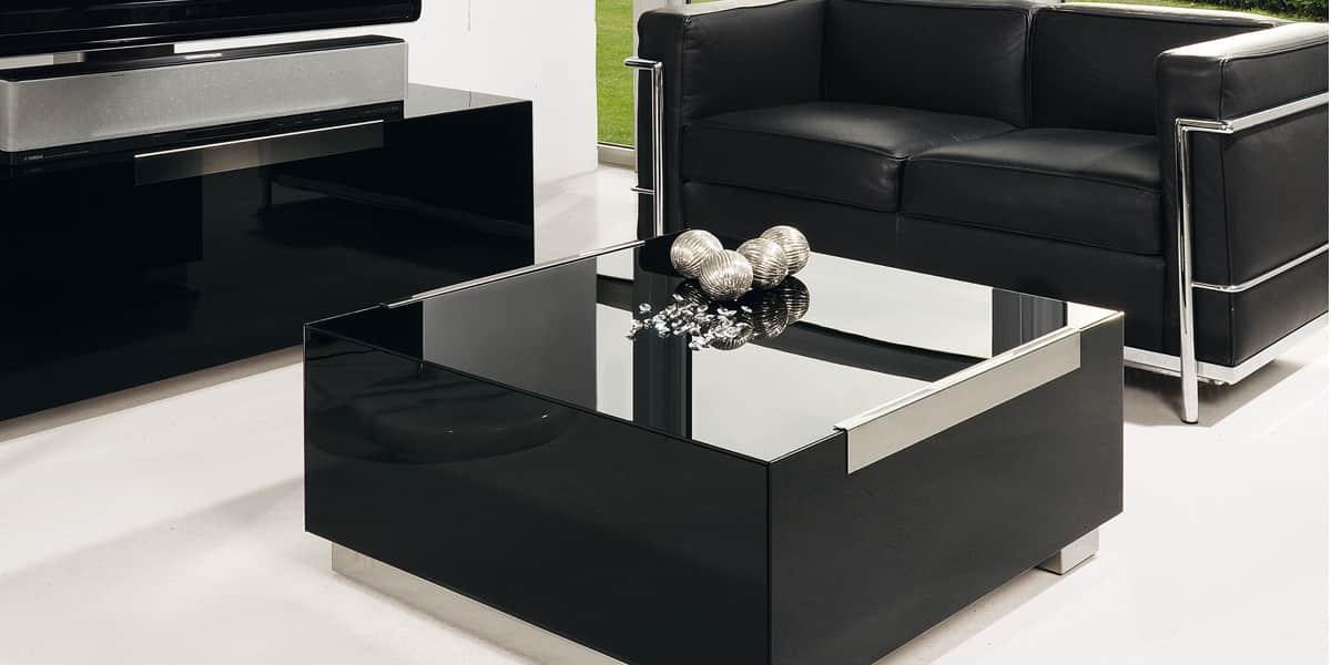 Munari mi316 noir tables basses sur easylounge - Table basse laquee noire ...