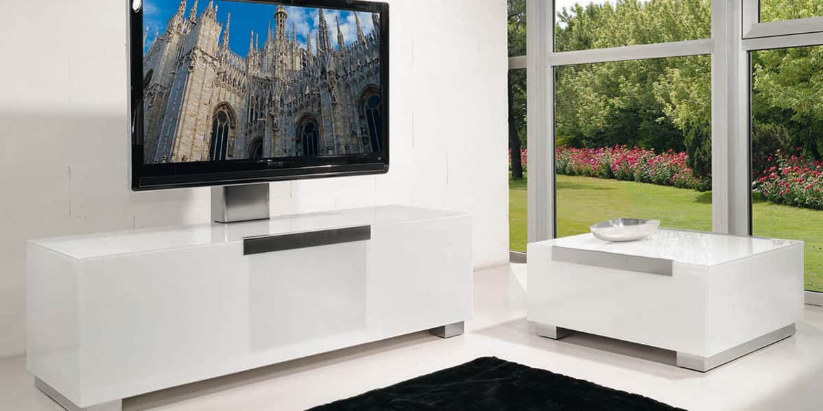 munari mi320 blanc meubles tv munari sur easylounge. Black Bedroom Furniture Sets. Home Design Ideas