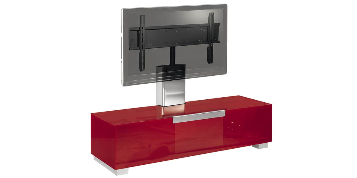 Munari mi320 rouge meubles tv munari sur easylounge for Meuble tv rouge but