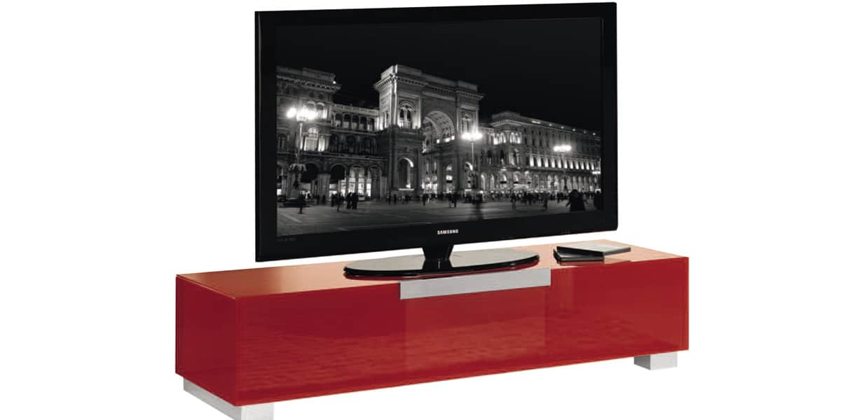 meuble tv bas rouge. Black Bedroom Furniture Sets. Home Design Ideas