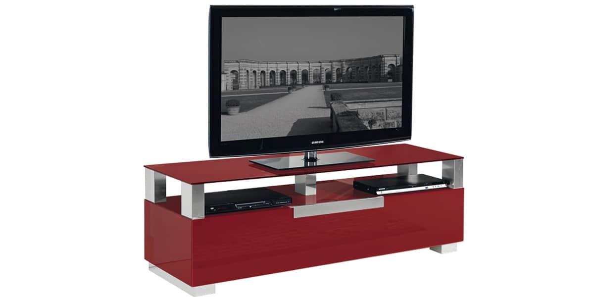 meuble tv munari milano mi326 rouge - Meuble Tv Design Italien Munari