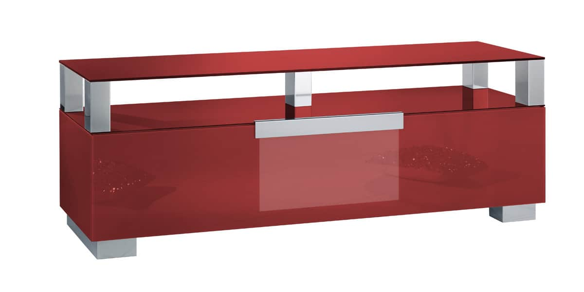 Munari mi326 rouge meubles tv munari sur easylounge for Meuble tv rouge but