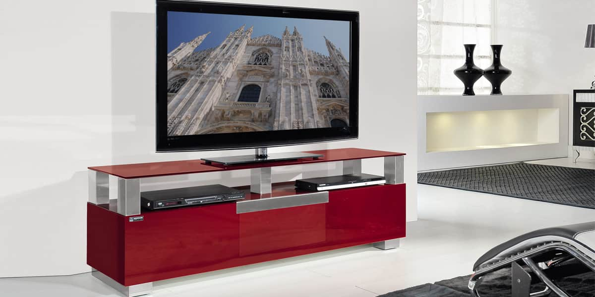 munari mi326 rouge meubles tv munari sur easylounge. Black Bedroom Furniture Sets. Home Design Ideas