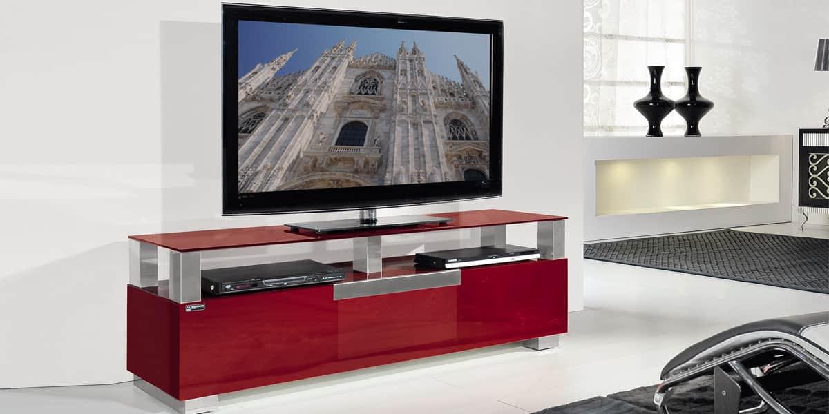 Munari mi328 rouge meubles tv munari sur easylounge for Meuble tv rouge