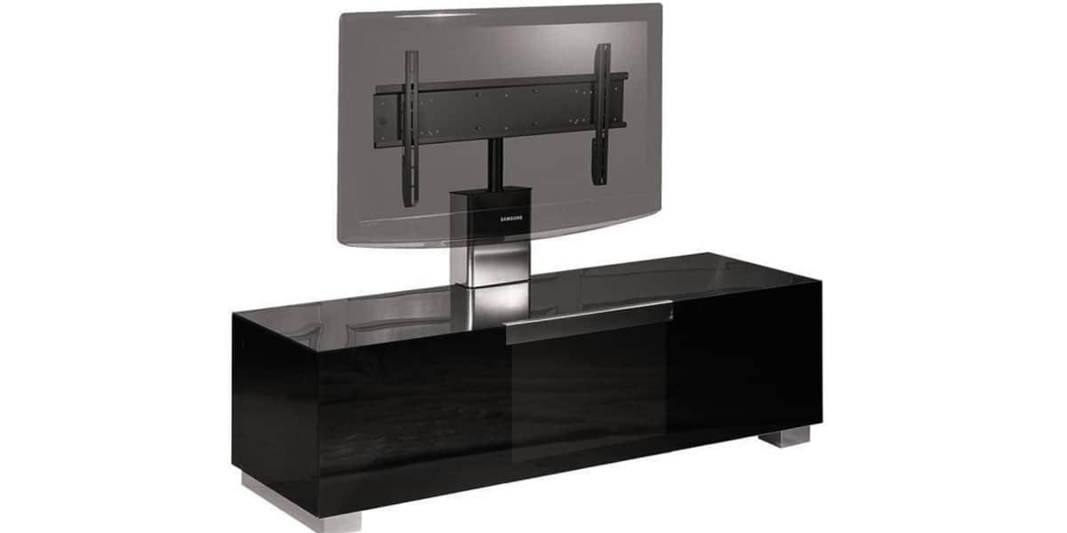 Munari mi329 noir meubles tv munari sur easylounge - Meuble tv avec support orientable ...