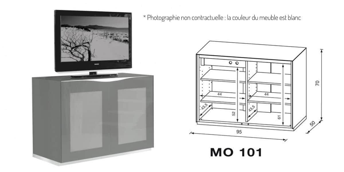 Meuble Tv Blanc Munari : Munari Mo101bi Blancmeubles Tv Munari Sur Easylounge