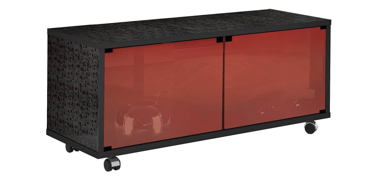 Meuble Tv Rouge : Meuble Tv Munari Matera Mt125 Rouge