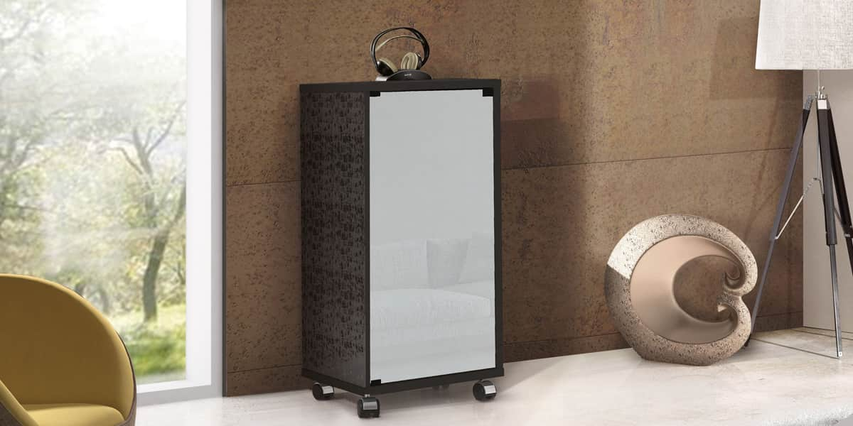 Munari matera mt159 blanc meubles hifi sur easylounge for Meuble hifi blanc