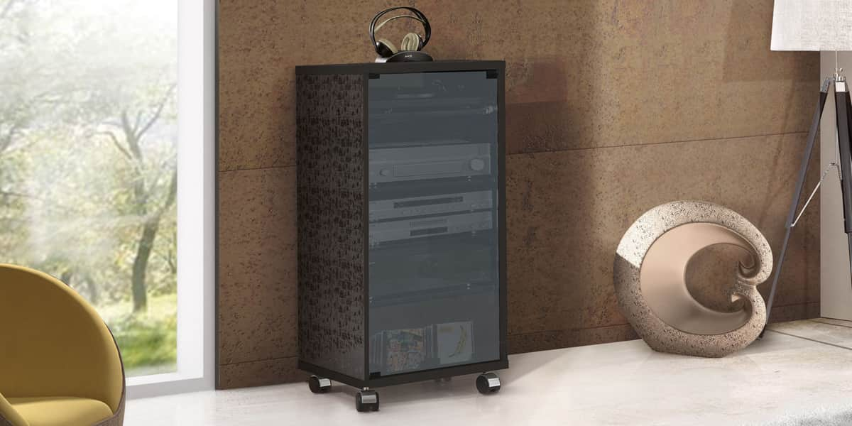 munari matera mt159 noir meubles hifi sur easylounge. Black Bedroom Furniture Sets. Home Design Ideas
