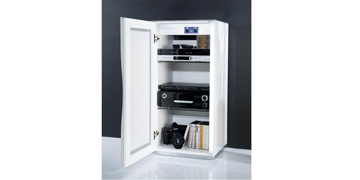 meuble hifi porte meuble bas hifi chene 4 portes 2 armarbois mobilier meubles installations. Black Bedroom Furniture Sets. Home Design Ideas