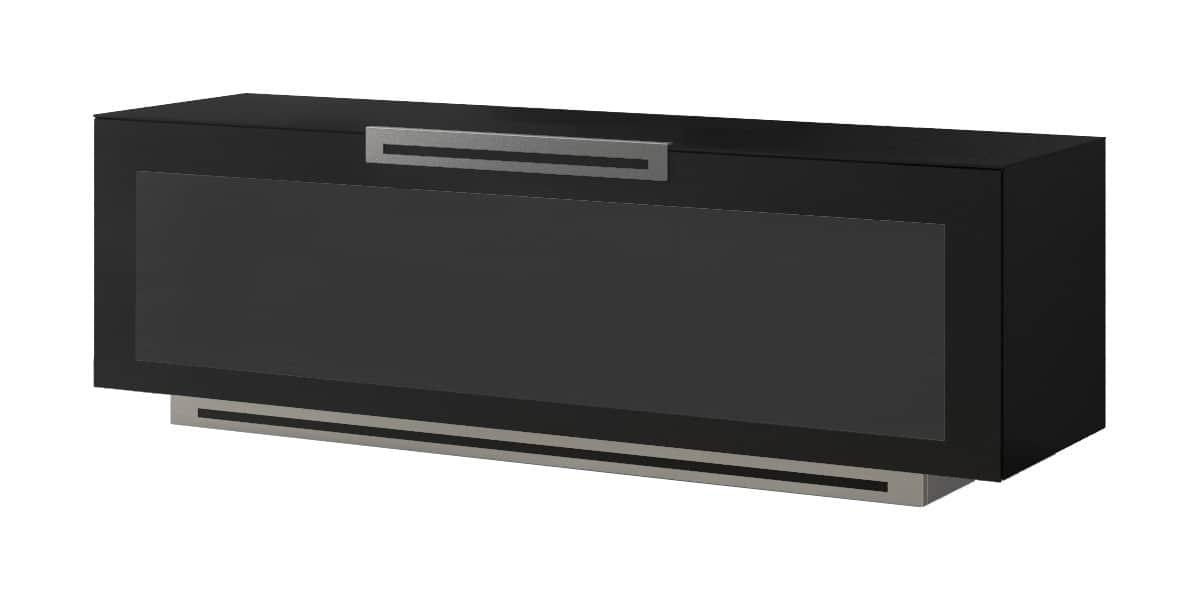 Munari pe012 noir mat meubles tv munari sur easylounge - Meuble tv noir mat ...