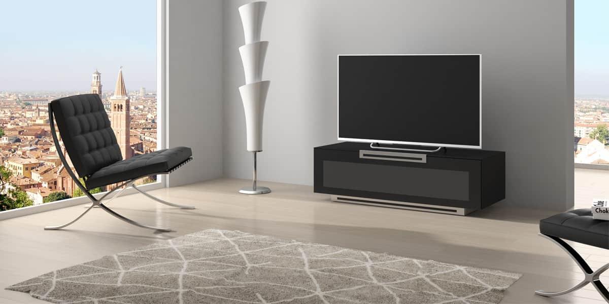 Munari pe021 noir mat meubles tv sur easylounge - Meuble tv noir mat ...