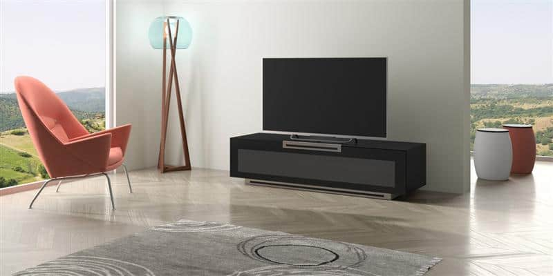 munari pe022 noir mat meubles tv munari sur easylounge. Black Bedroom Furniture Sets. Home Design Ideas