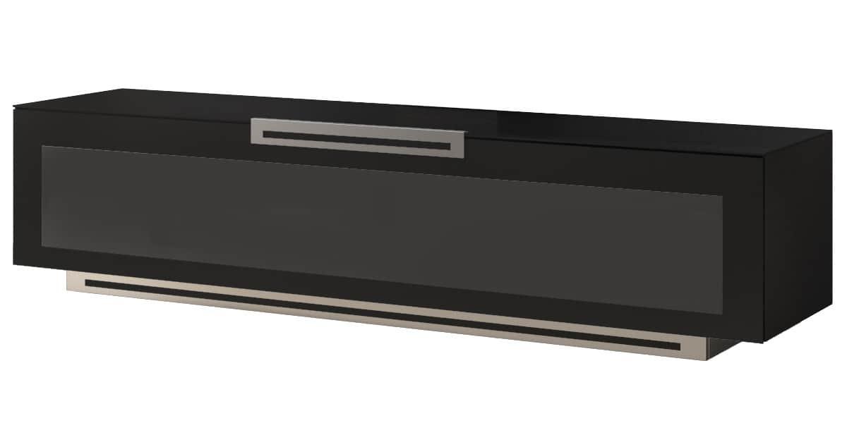Munari pe074 noir mat meubles tv munari sur easylounge - Meuble tv noir mat ...