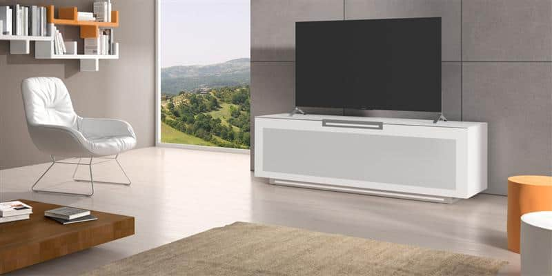 munari pe076 blanc mat meubles tv munari sur easylounge. Black Bedroom Furniture Sets. Home Design Ideas