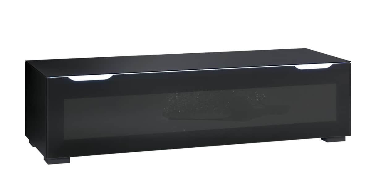 Munari ps150 noir meubles tv munari sur easylounge for Meuble tv 65 pouces