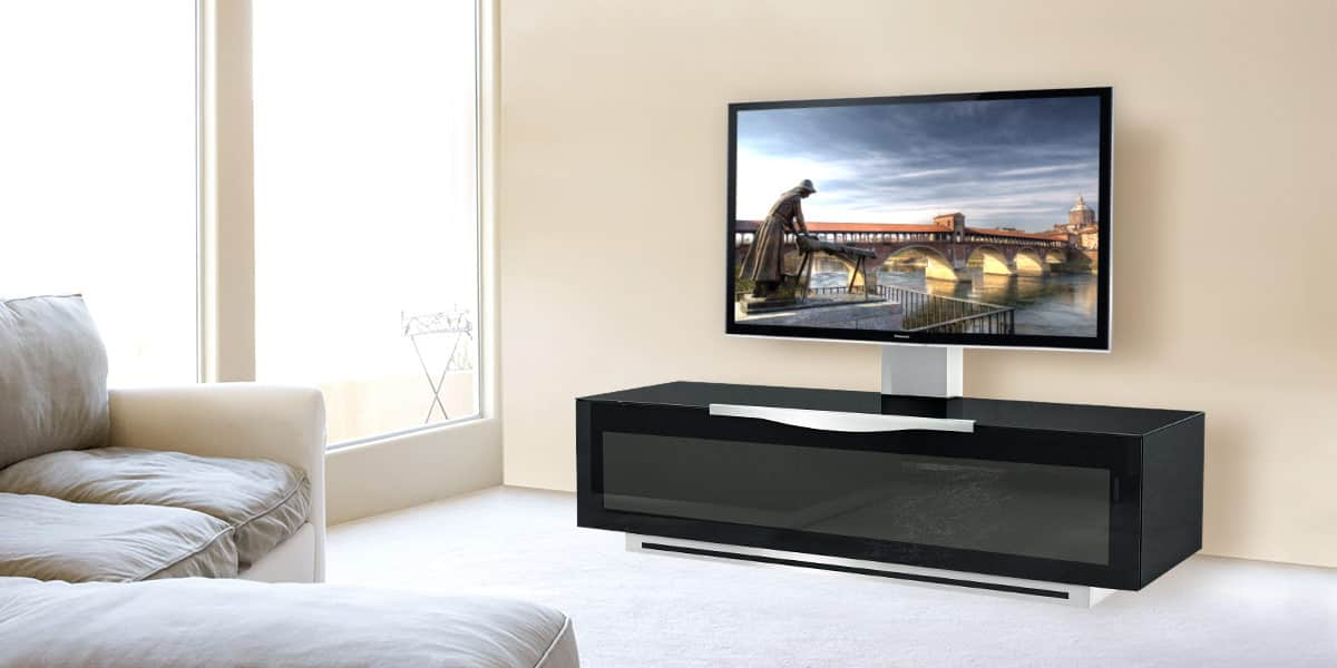 munari pv022 310 noir meubles tv munari sur easylounge. Black Bedroom Furniture Sets. Home Design Ideas