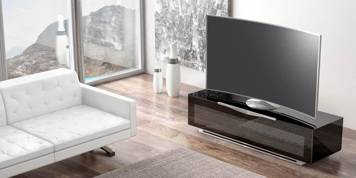 Munari pv022 noir meubles tv munari sur easylounge for Meuble tv next 04 de munari