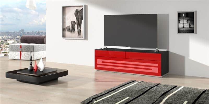 munari rainbow 151 noir p rouge meubles tv munari sur easylounge. Black Bedroom Furniture Sets. Home Design Ideas