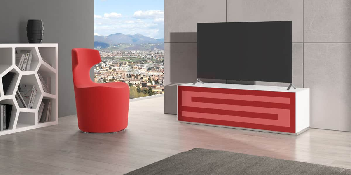 munari rainbow 152 blanc p rouge meubles tv munari sur easylounge. Black Bedroom Furniture Sets. Home Design Ideas