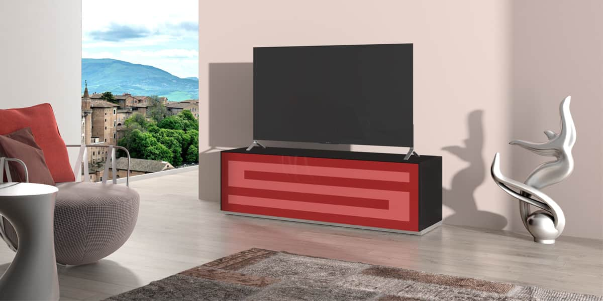 munari rainbow 152 noir p rouge meubles tv munari sur easylounge. Black Bedroom Furniture Sets. Home Design Ideas