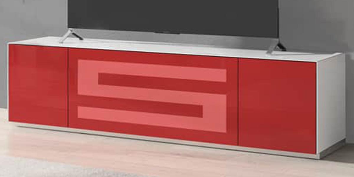 Munari Rainbow 175 Blanc P Rouge Meubles Tv Sur Easylounge