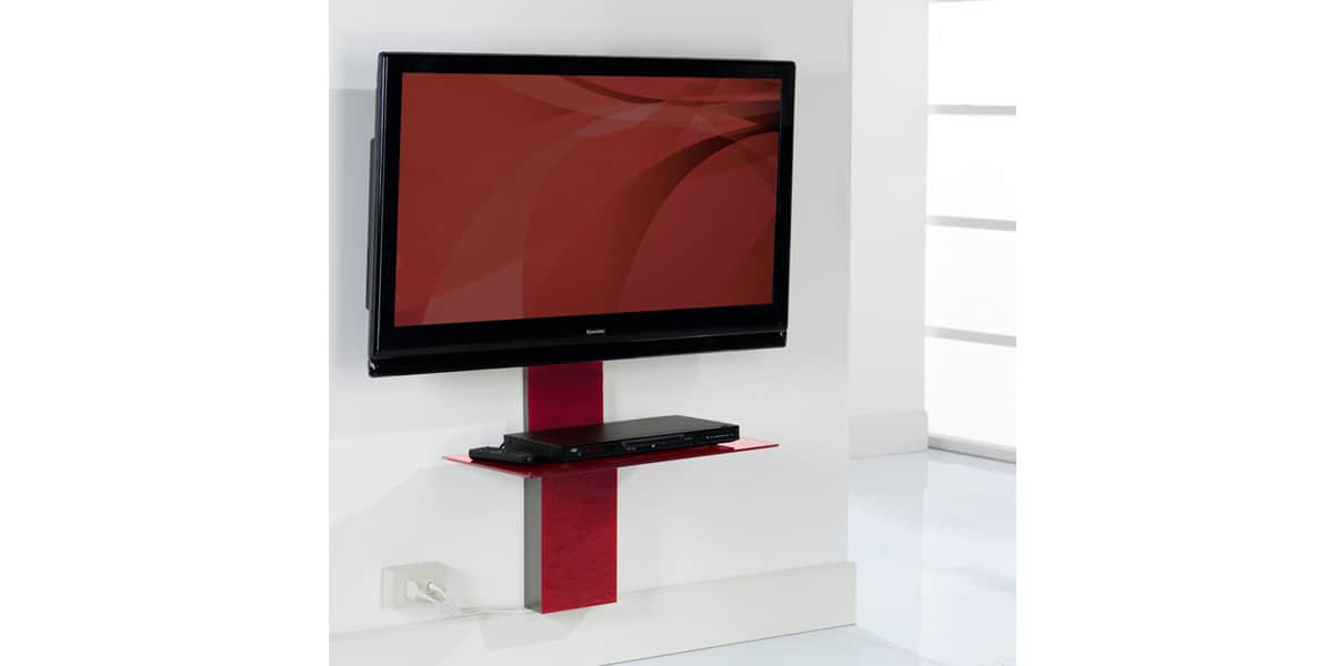 Munari sp900 rouge accessoires supports tv sur easylounge - Meuble tv cachee ...