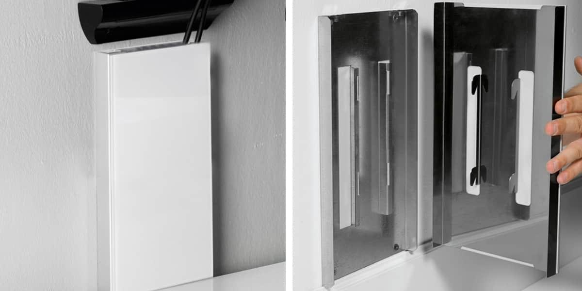 Munari sp901 noir accessoires supports tv sur easylounge for Cache fils tv mural