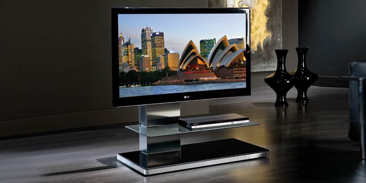 Munari SY340 Fumé  Supports TV sur Pied sur EasyLounge -> Supports Tv Sur Pied