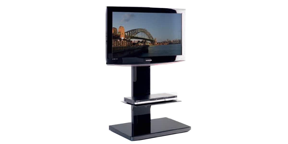 Munari sy360 noir supports tv sur pied sur easylounge - Meuble tv sur pied ...