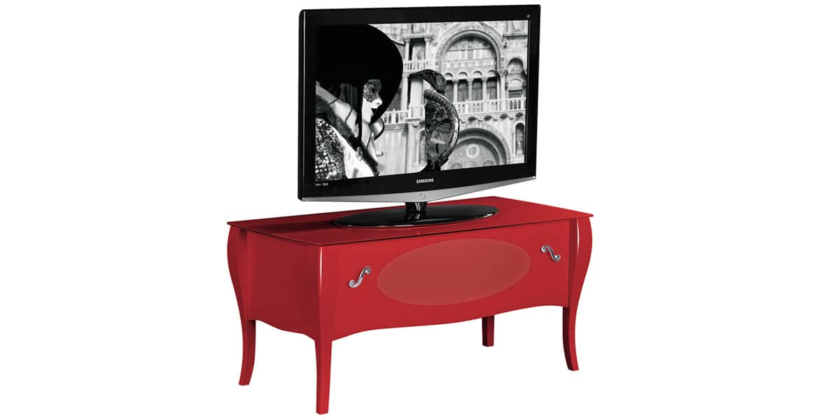 munari ve132 rouge meubles tv munari sur easylounge. Black Bedroom Furniture Sets. Home Design Ideas