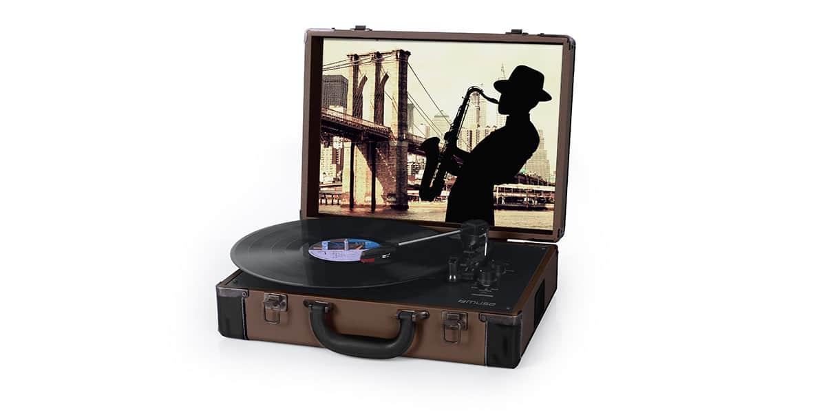 muse mt 102 lt marron platines vinyles audiophiles sur easylounge. Black Bedroom Furniture Sets. Home Design Ideas