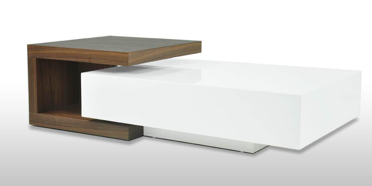 Coti design nemi blanc tables basses sur easylounge for Bureau en solde