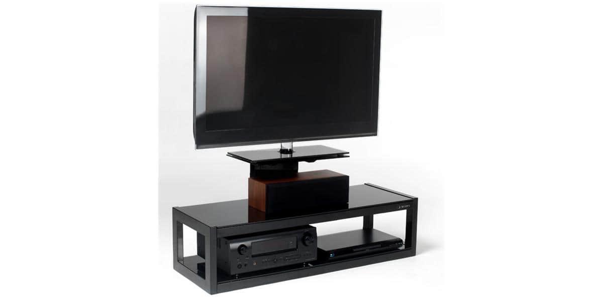 Norstone dyvad noir meubles tv norstone sur easylounge for Meuble tv norstone