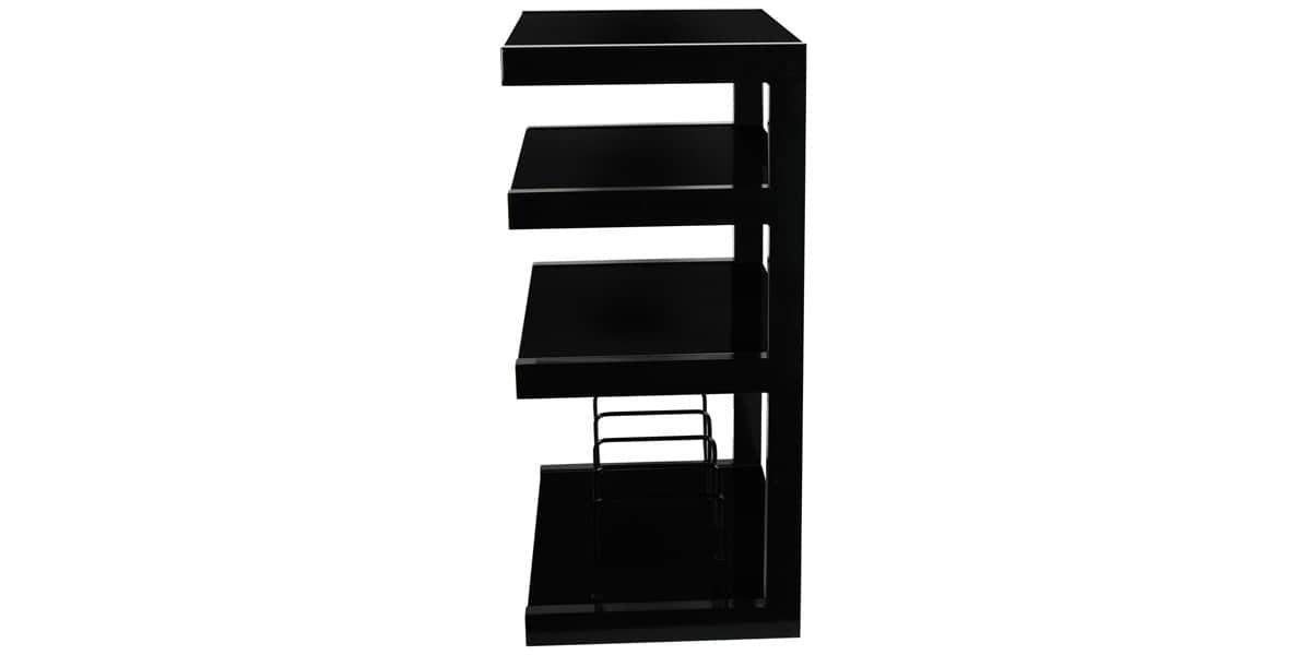 Norstone esse vinyl noir meubles hifi sur easylounge for Meuble hifi noir
