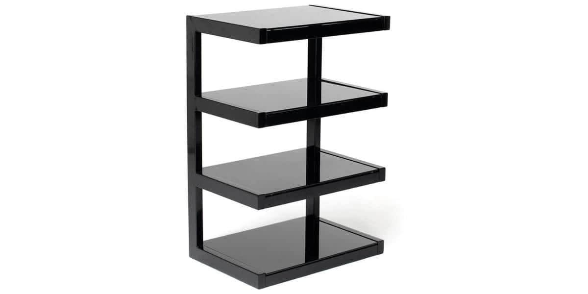 Norstone esse hifi noir meubles hifi sur easylounge for Petit meuble hifi
