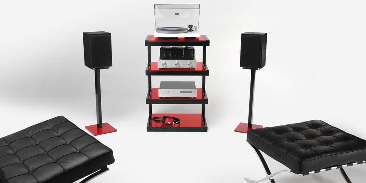 norstone esse hifi rouge meubles hifi sur easylounge. Black Bedroom Furniture Sets. Home Design Ideas