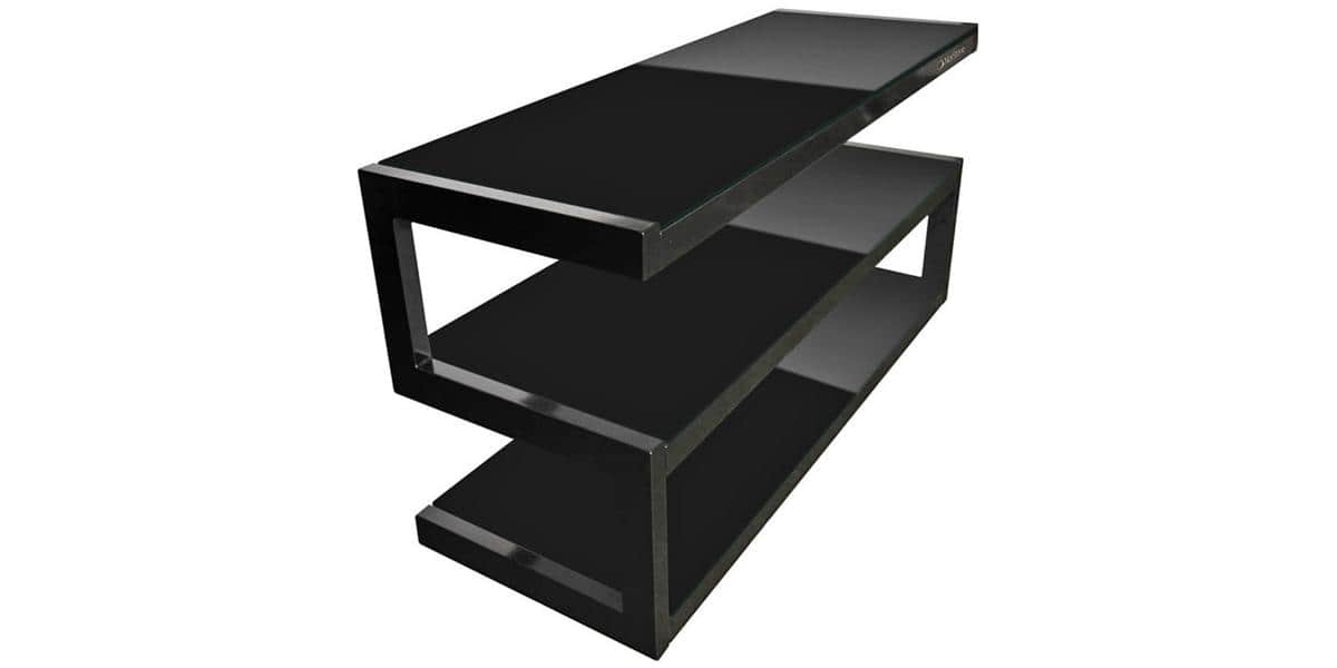 Norstone esse mini noir meubles tv norstone sur easylounge for Mini meuble tv