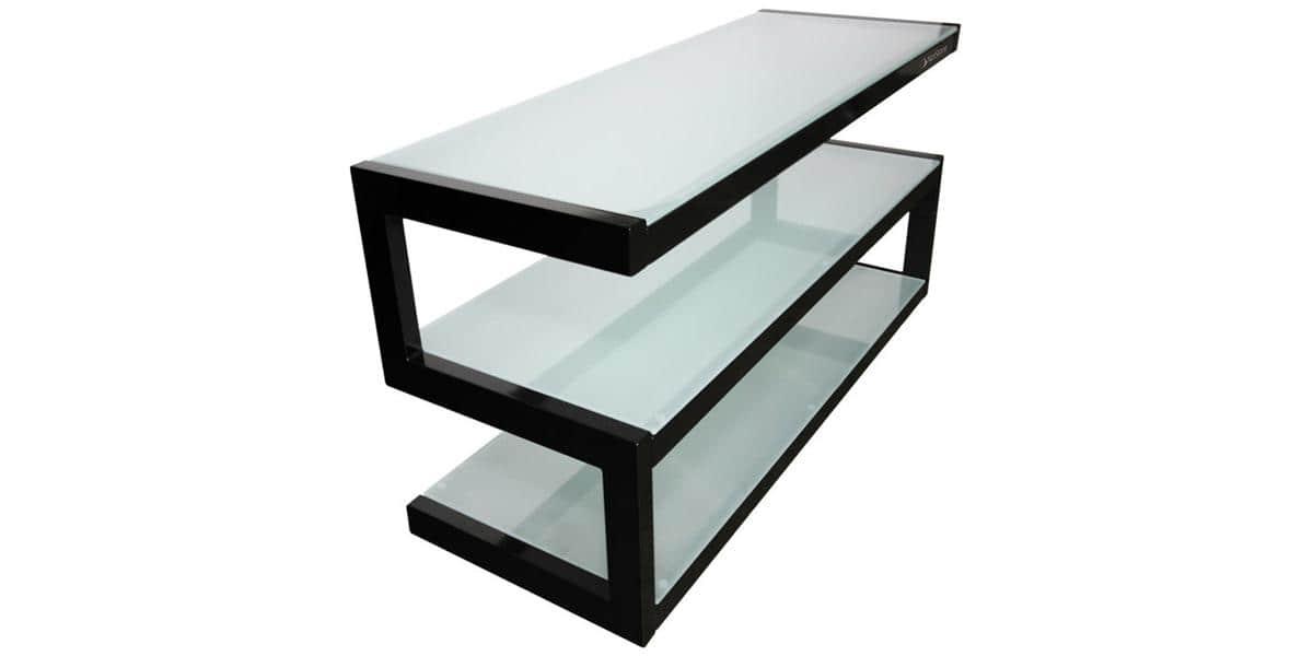 Norstone esse mini noir et verre meubles tv norstone sur for Mini meuble tv