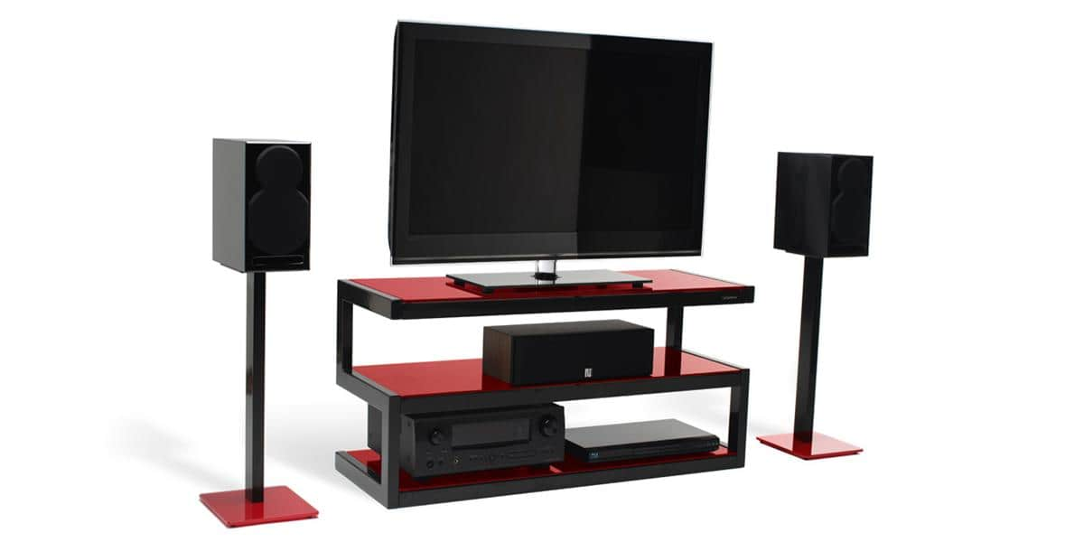 Norstone esse noir et rouge meubles tv norstone sur easylounge - Meuble tv noir et rouge ...